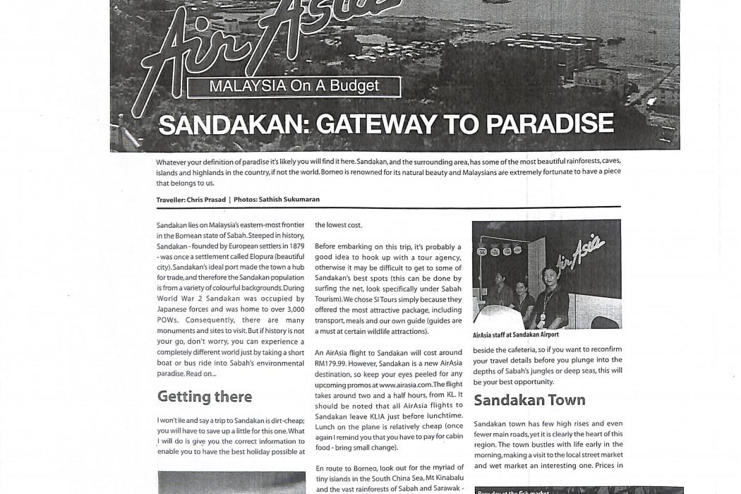 (1) airasia Malaysia On A Budget. Sandakan Gateway to Paradise