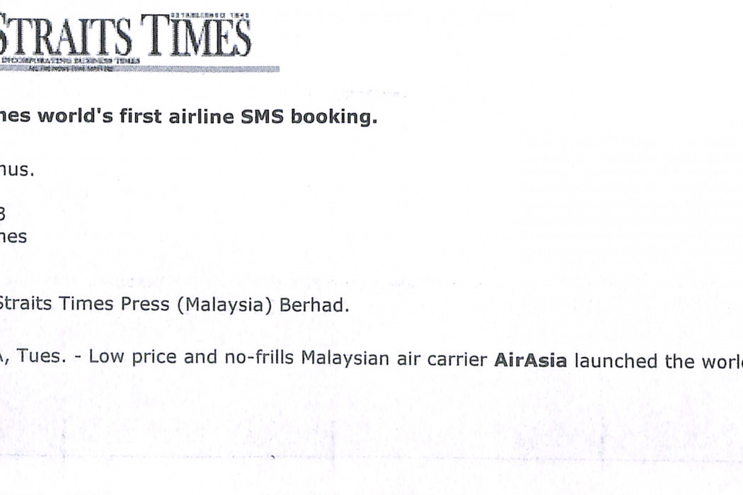 (1) airasia launches world's first airline SMS booking