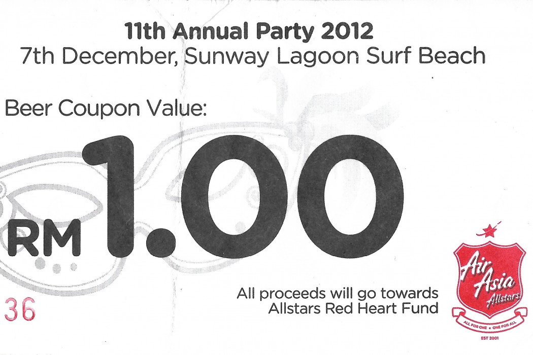 11th Annual Party 2012 Beer Coupon