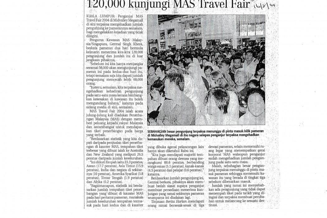 120,000 kunjungi MAS Travel Fair