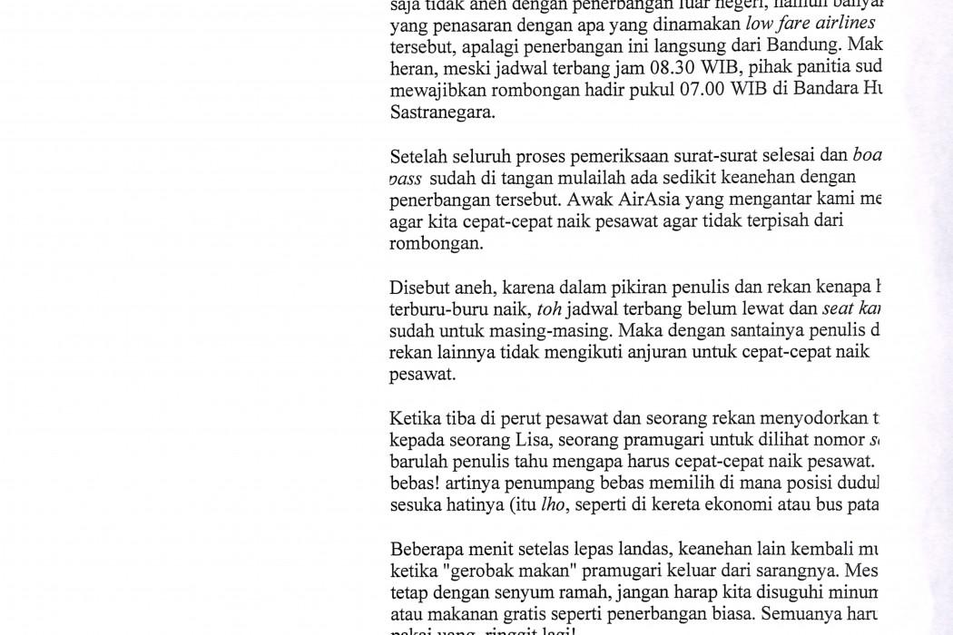 (2) Fiskal, Kendala Orang Bandung Mengena Tetangga