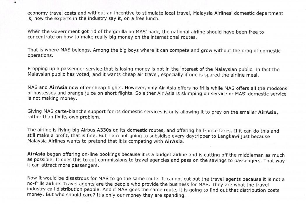 (2) Malaysians happy to fly the no-frills way