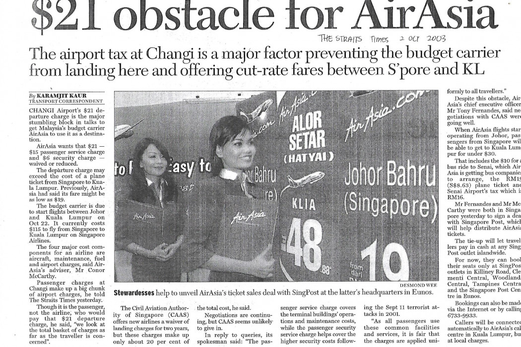 $21 obstacle for airasia