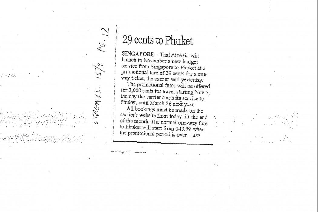 29 cents to Phuket