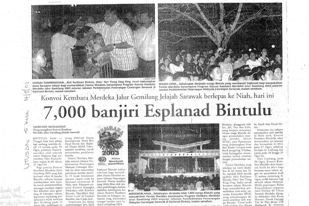 7,000 banjiri Esplanad Bintulu