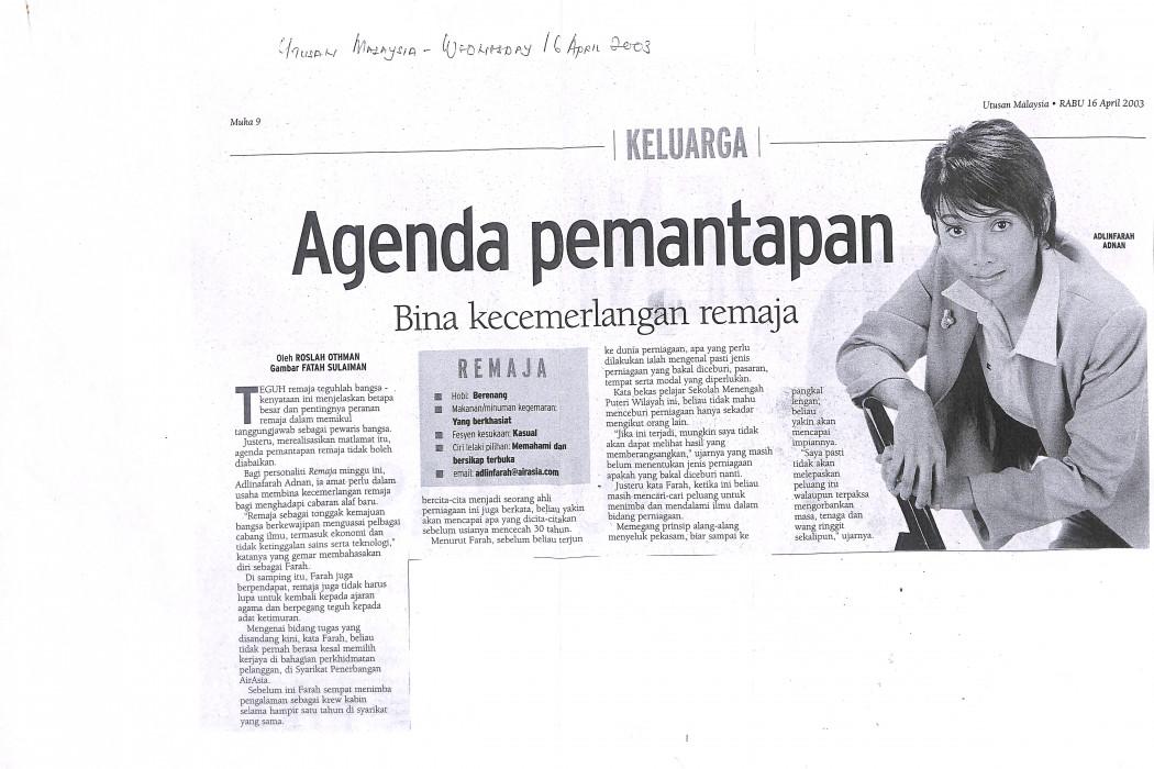 Agenda pemantapan