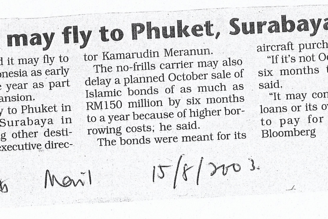 Air Asia may fly to Phuket, Surabaya