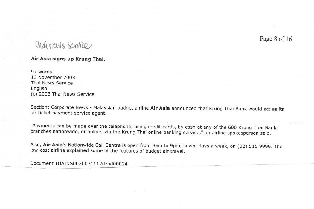 Air Asia signs up Krung Thai
