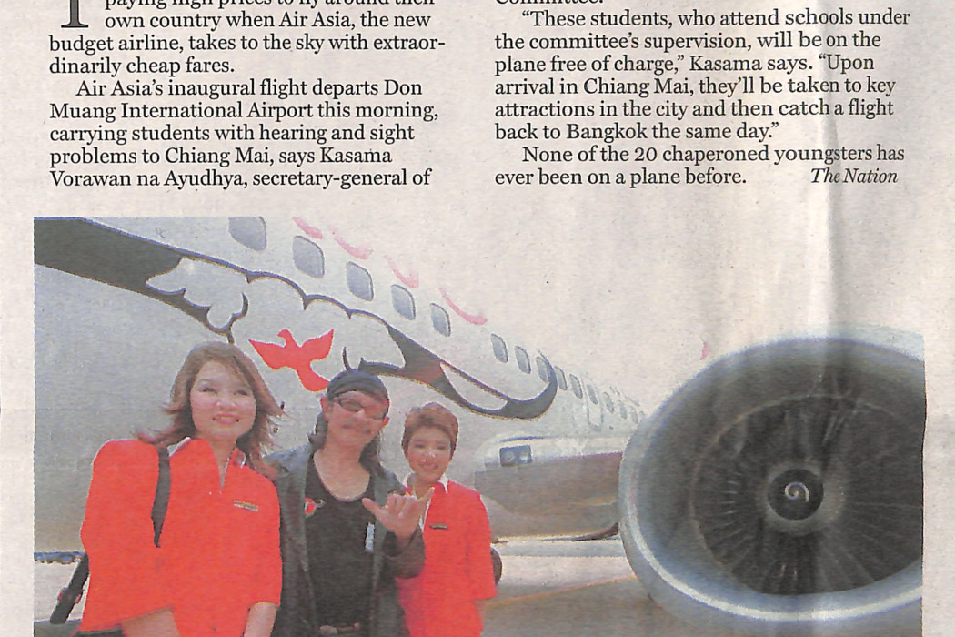 Air Asia take-off a treat for kids