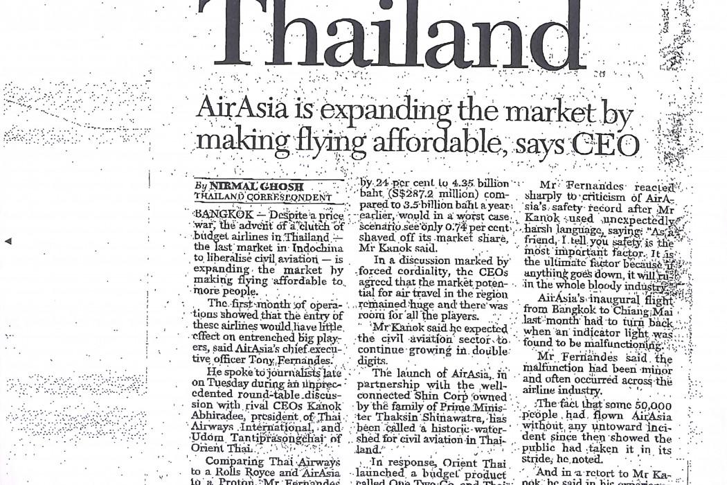 Air war in Thailand