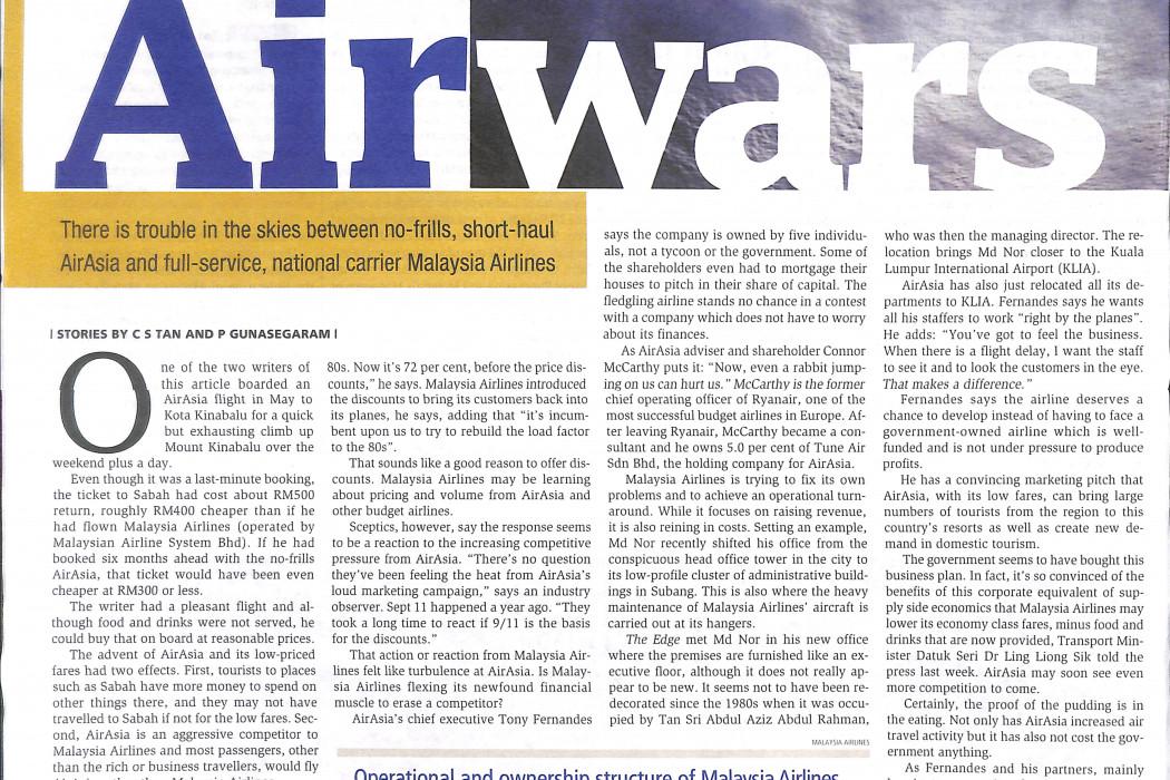Air wars Predatory pricing or fair shares - 02