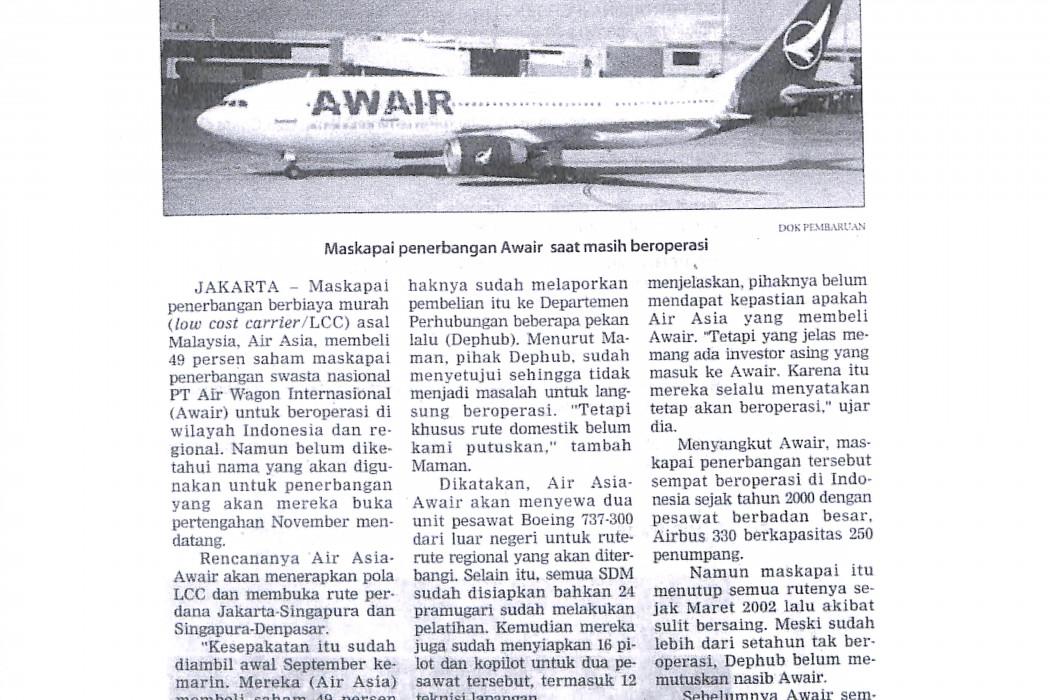 airasia Beli 49 Persen Saham Awair