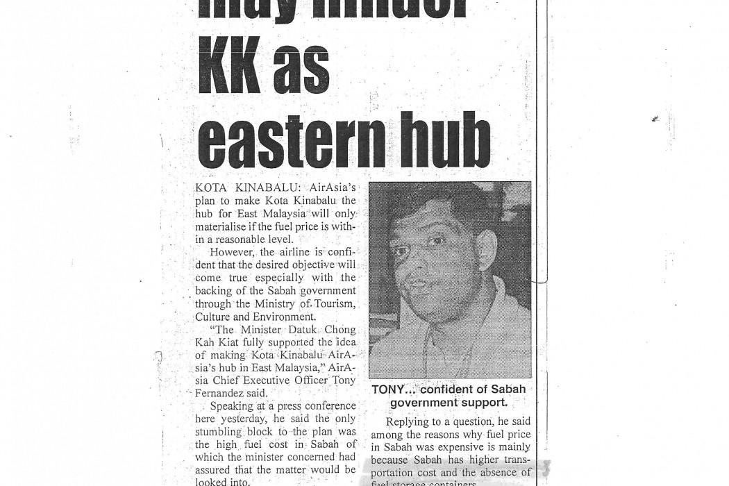airasia; Costly oil may hinder KK as eastern hub
