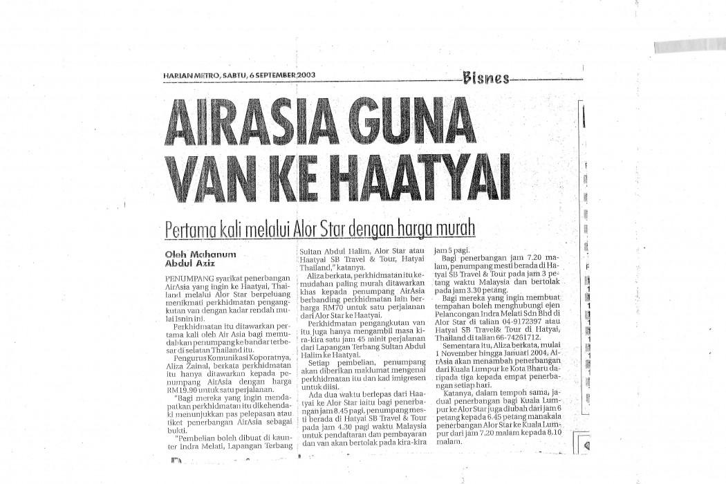 airasia Guna Van Ke Haatyai
