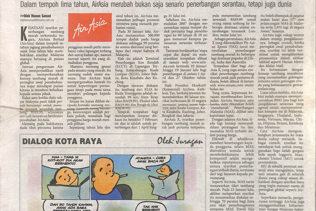 airasia Kisah Kejayaan formula rakyat Malaysia