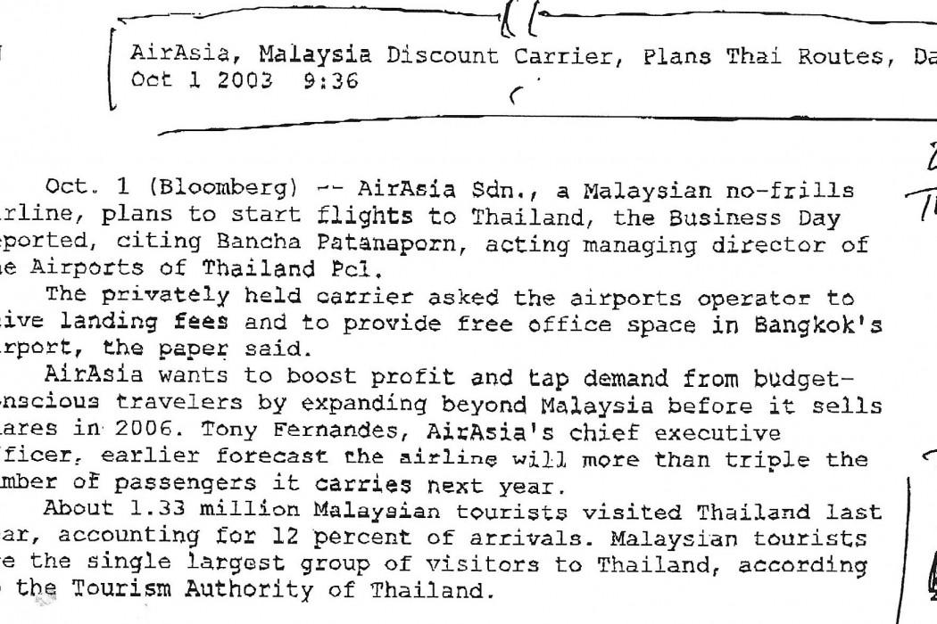 airasia, Malaysia discount carrier, plans Thai routes, Day says