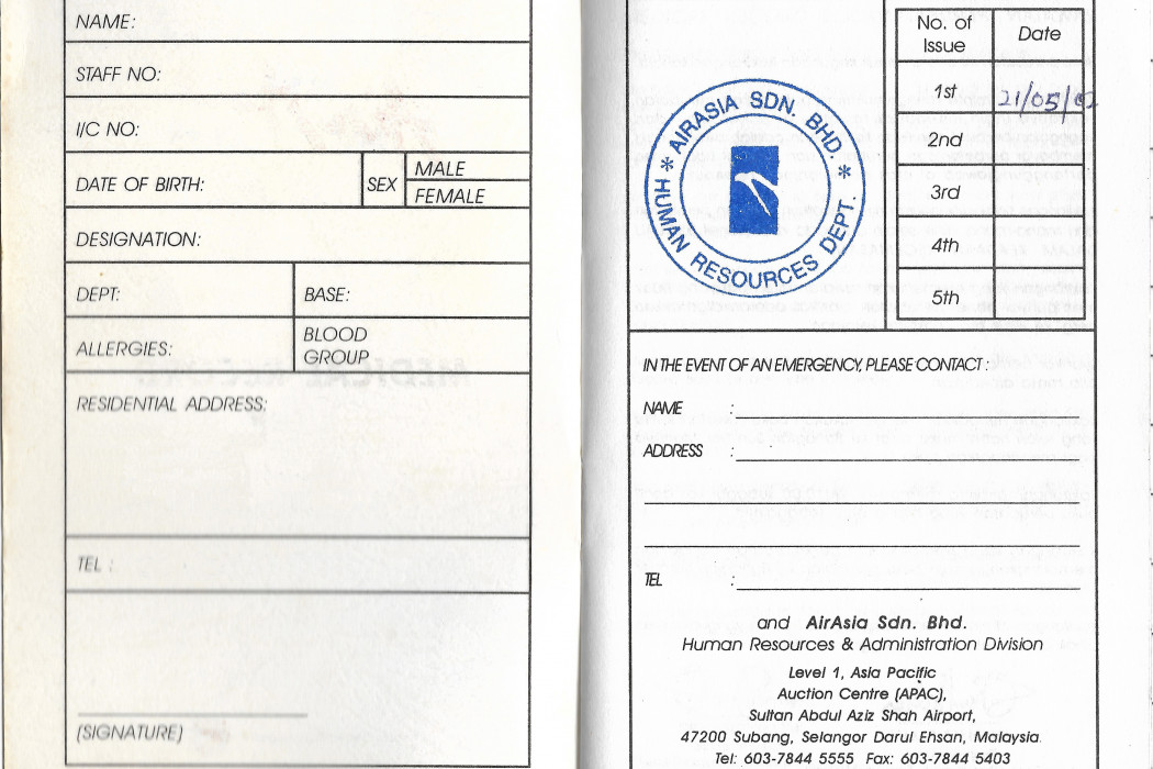 airasia Medical Record Book (3)