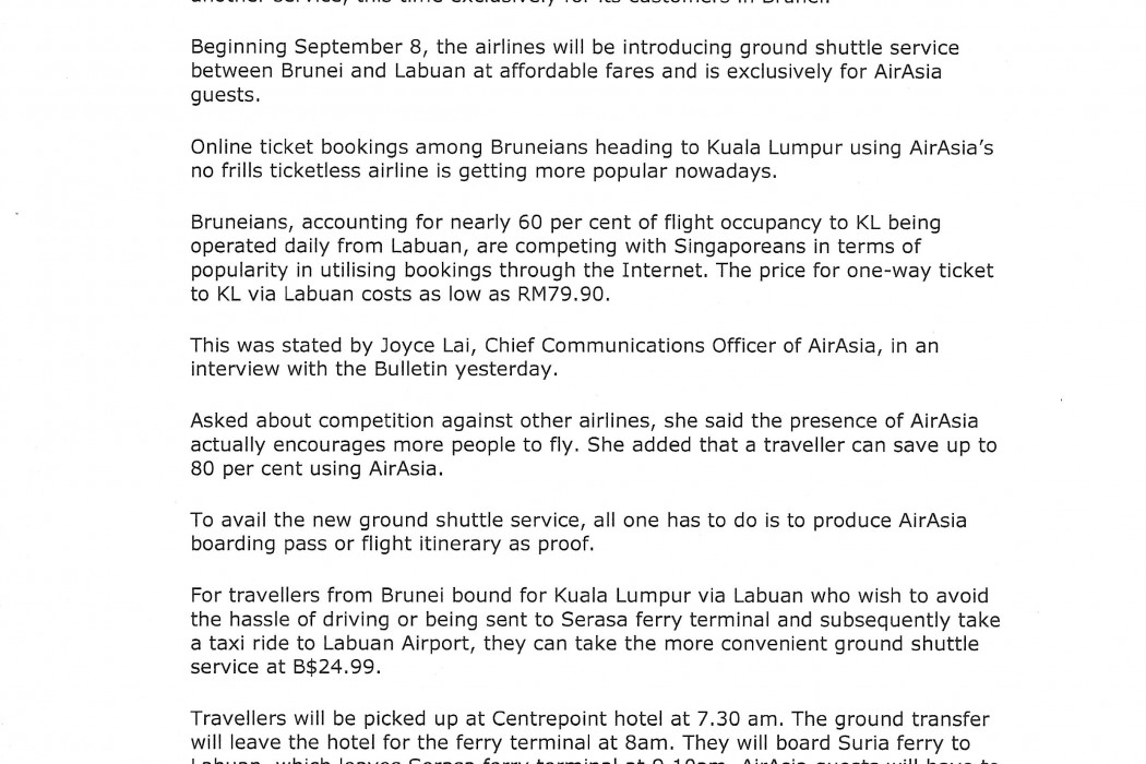 airasia Offers New Ground Shuttle Service - 01