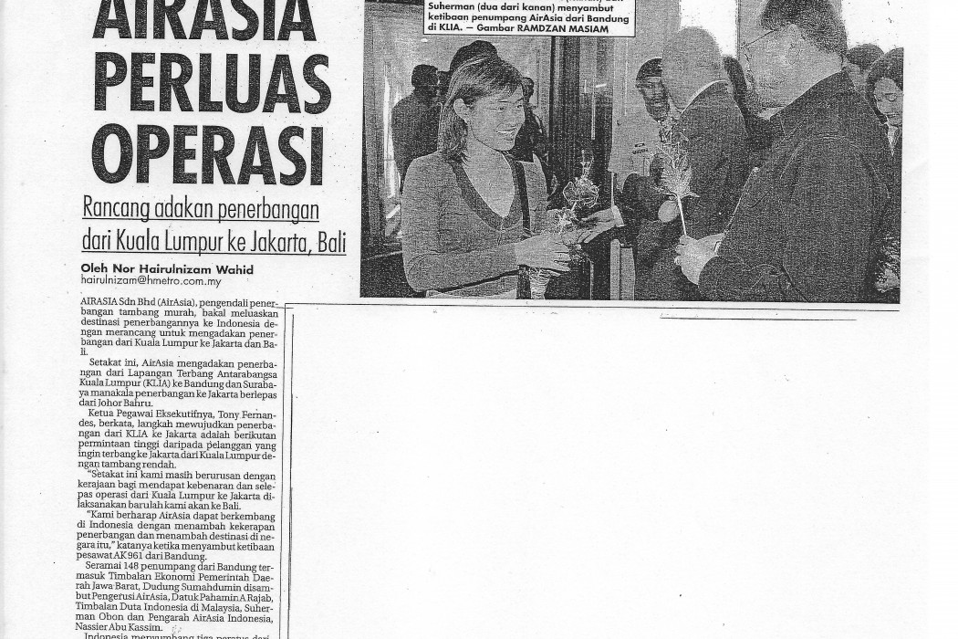 airasia Perluas Operasi