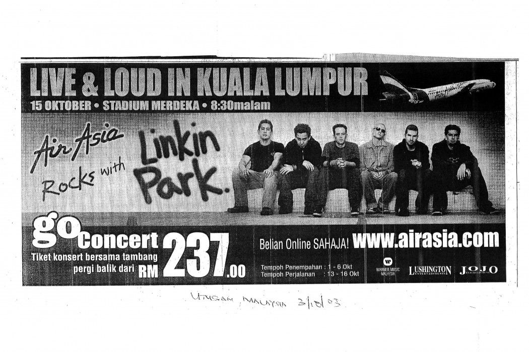 airasia Rocks with Linkin Park