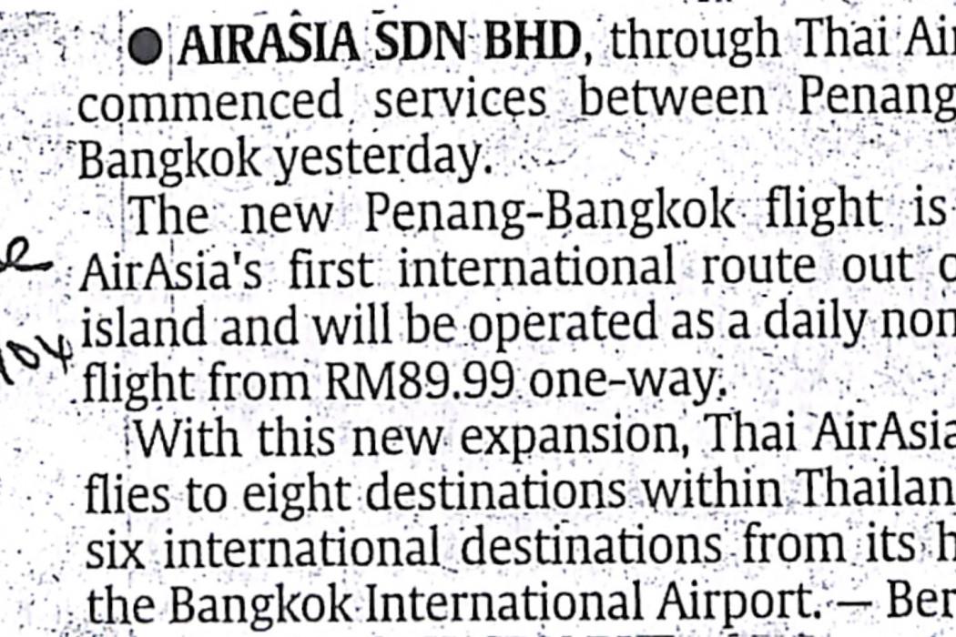 airasia Sdn Bhd, through Thai airasia...