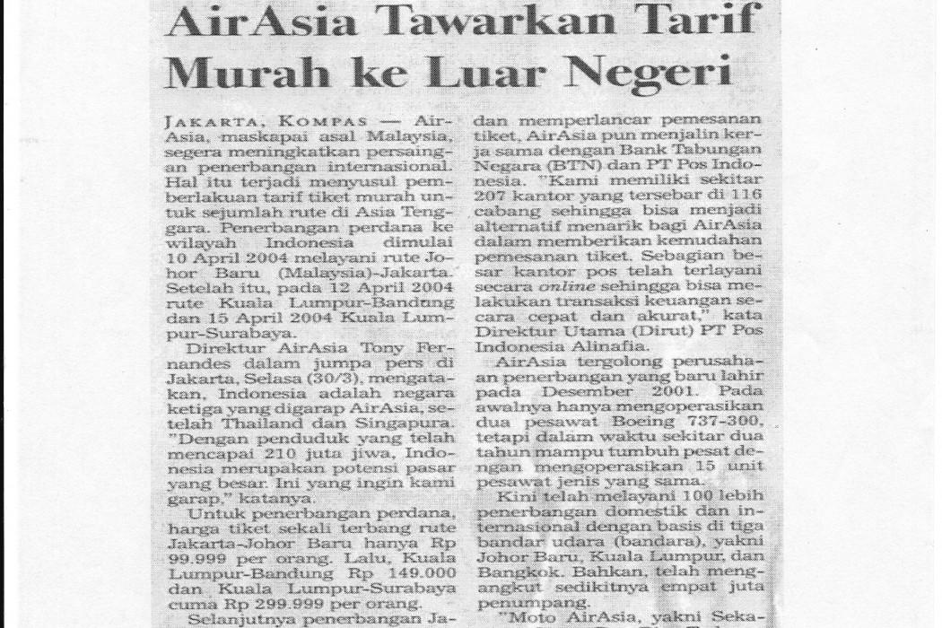 airasia Tawarkan Tarif Murah ke Luar Negeri
