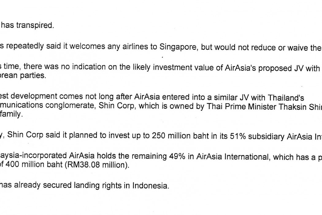 airasia, Temasek move closer to a deal - 02