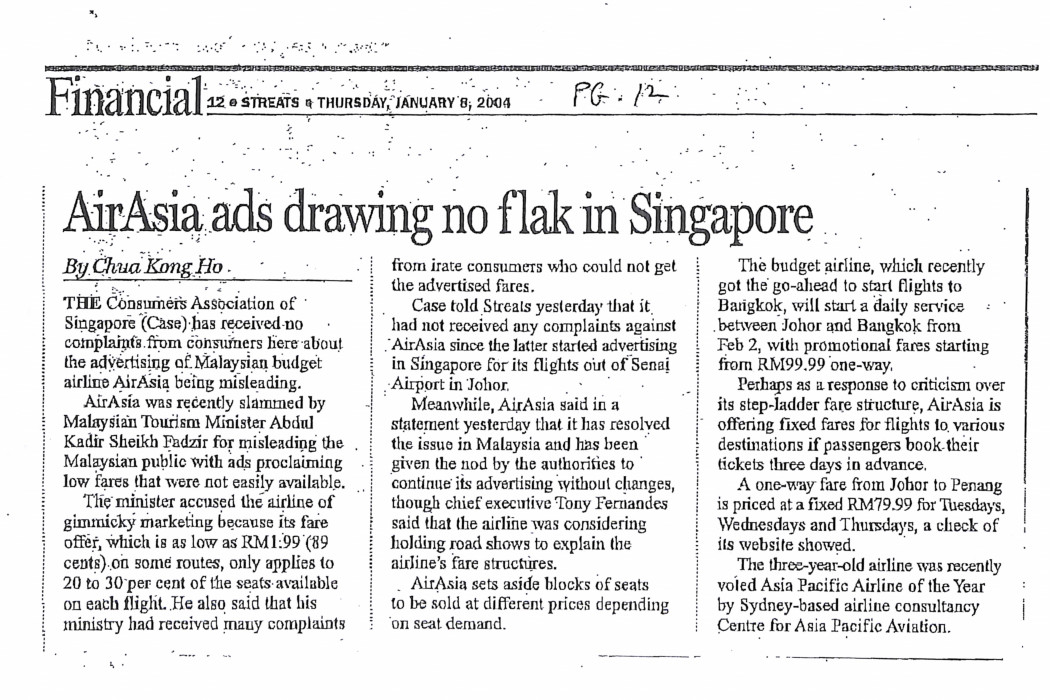 airasia ads drawing no flak in Singapore