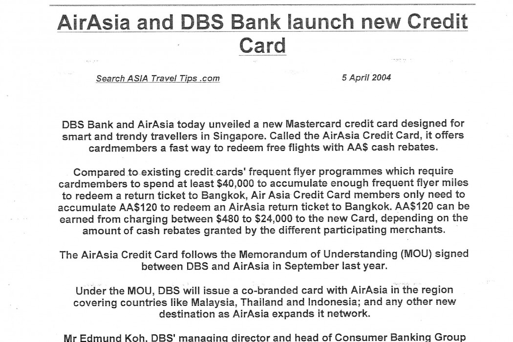 airasia and DBS Bank launch new Credit Card - 01