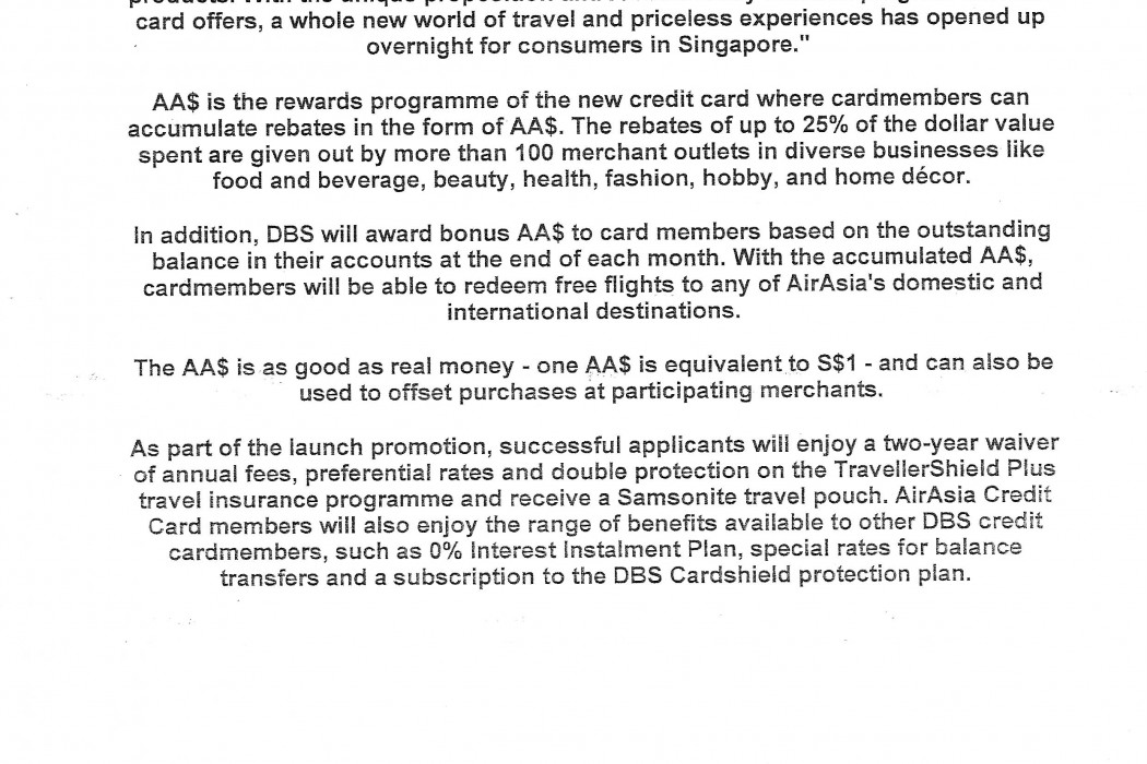 airasia and DBS Bank launch new Credit Card - 02