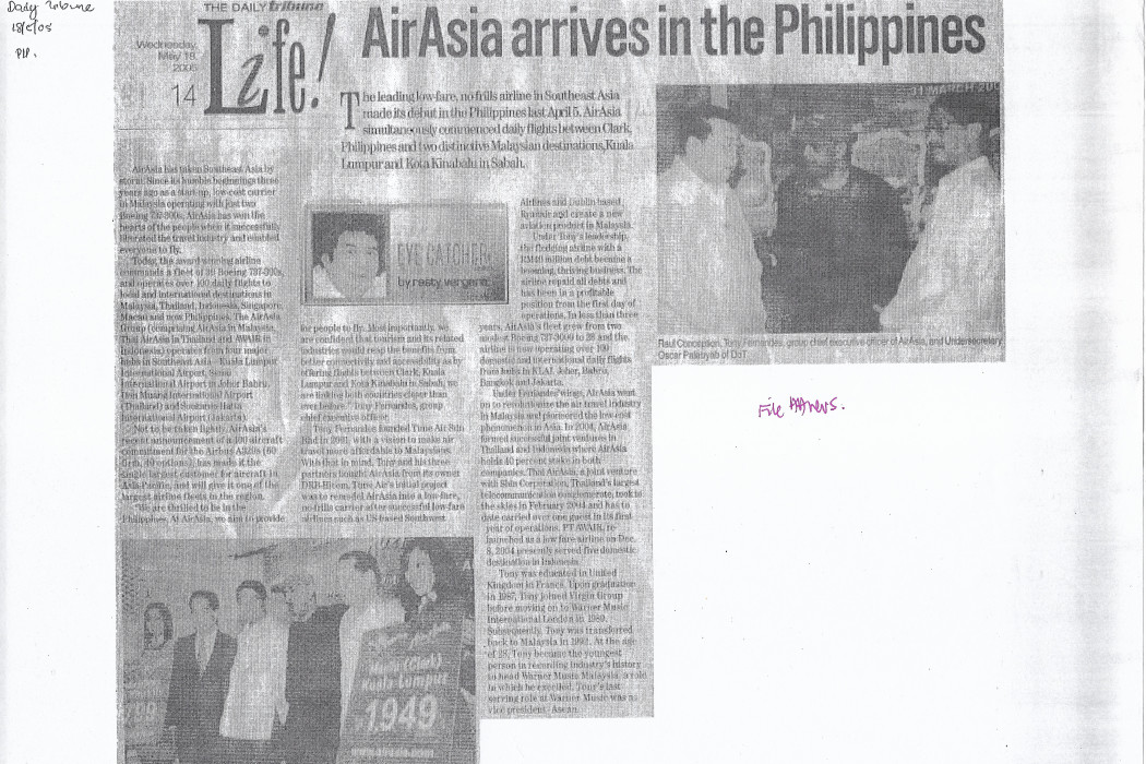 airasia arrives in the Philippines