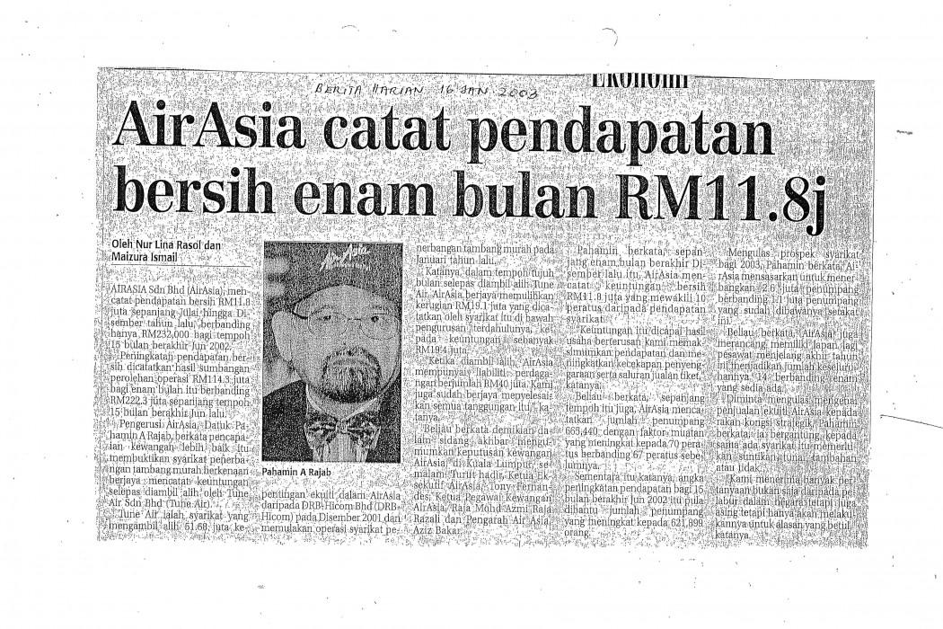airasia catat pendapatan bersih enam bulan RM11.8j