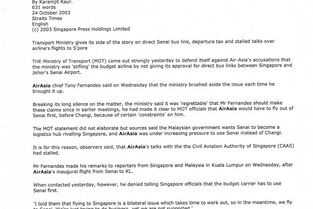 airasia claims - S'pore ministry breaks silence (1)