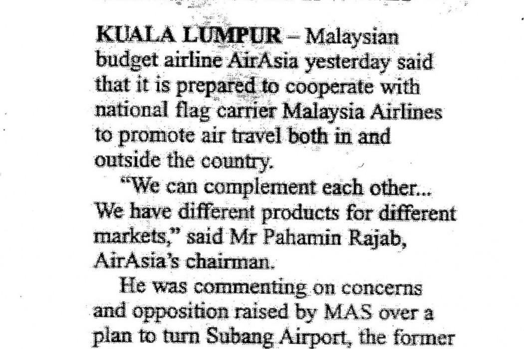 airasia courts MAS