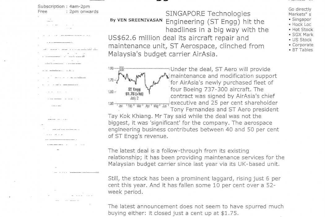 airasia deal prompts 'buy' calls on ST Engg (1)