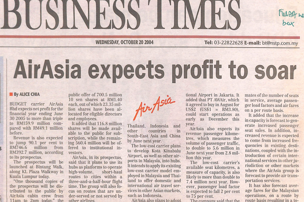 airasia expects profit to soar (1)