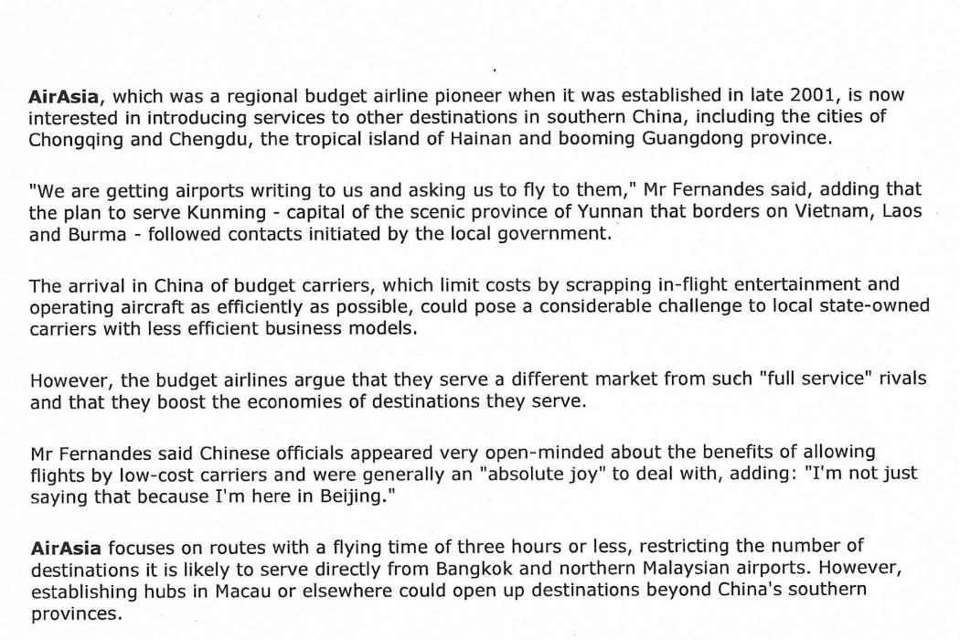 airasia eyes China routes (2)