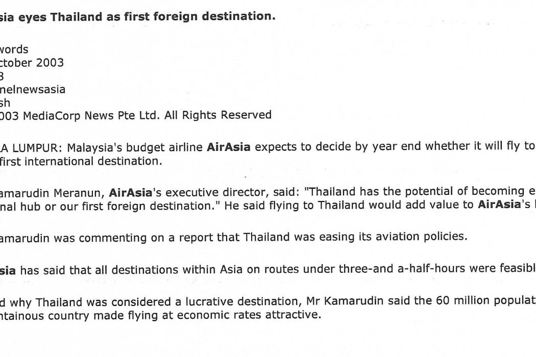 airasia eyes Thailand as first foreign destination (1)