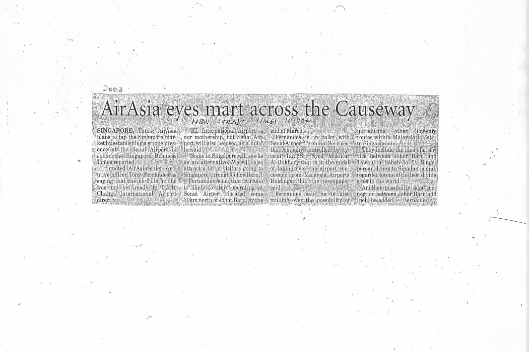 airasia eyes mart across the Causeway