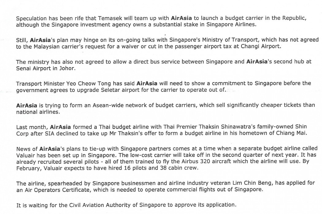 airasia firming up plan for budget airline in S'pore - 02