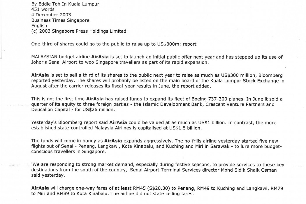 airasia gearing up for IPO in Aug 2004 (1)