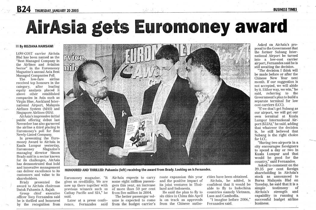 airasia gets Euromoney award