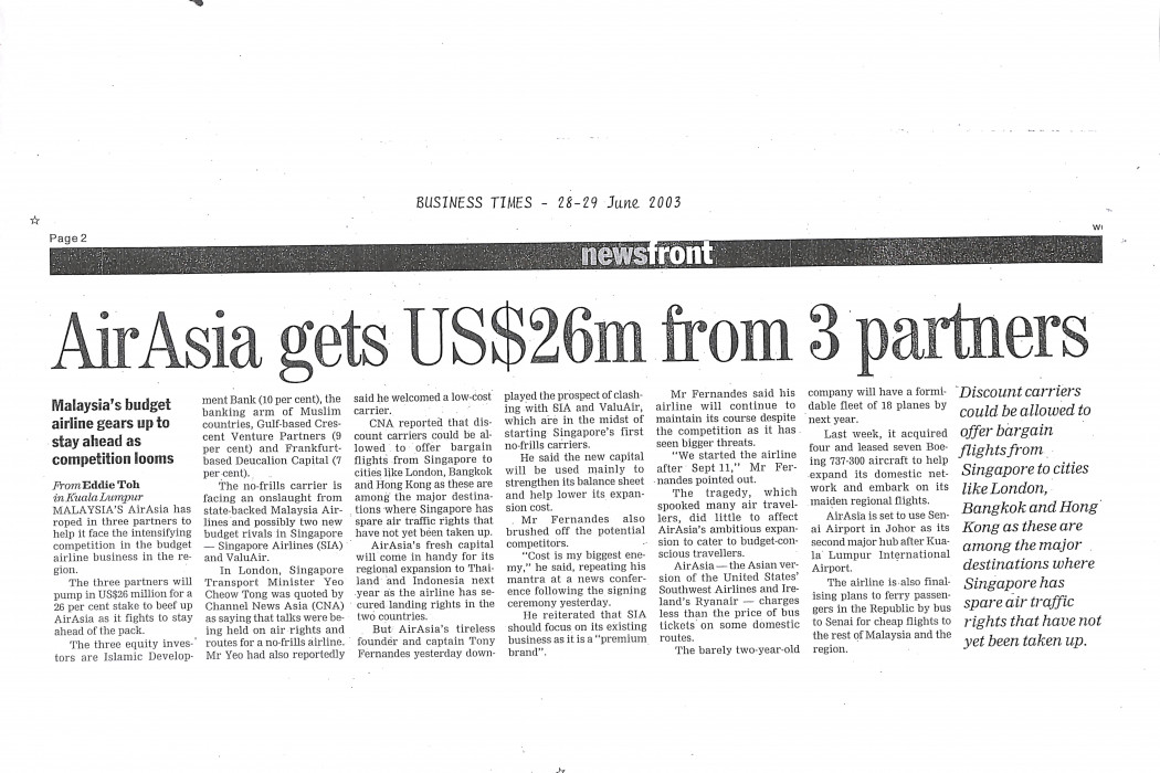 airasia gets US$26m from 3 partners
