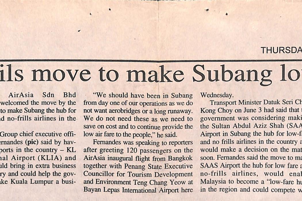 airasia hails move to make Subang low-fare hub