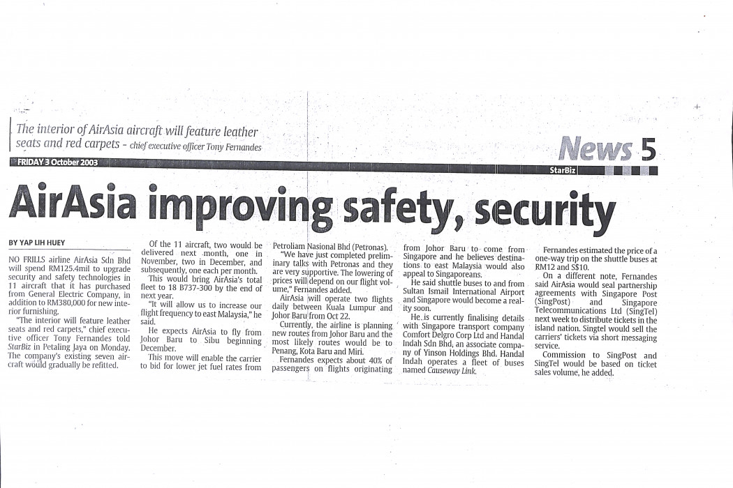 airasia improving safety, security
