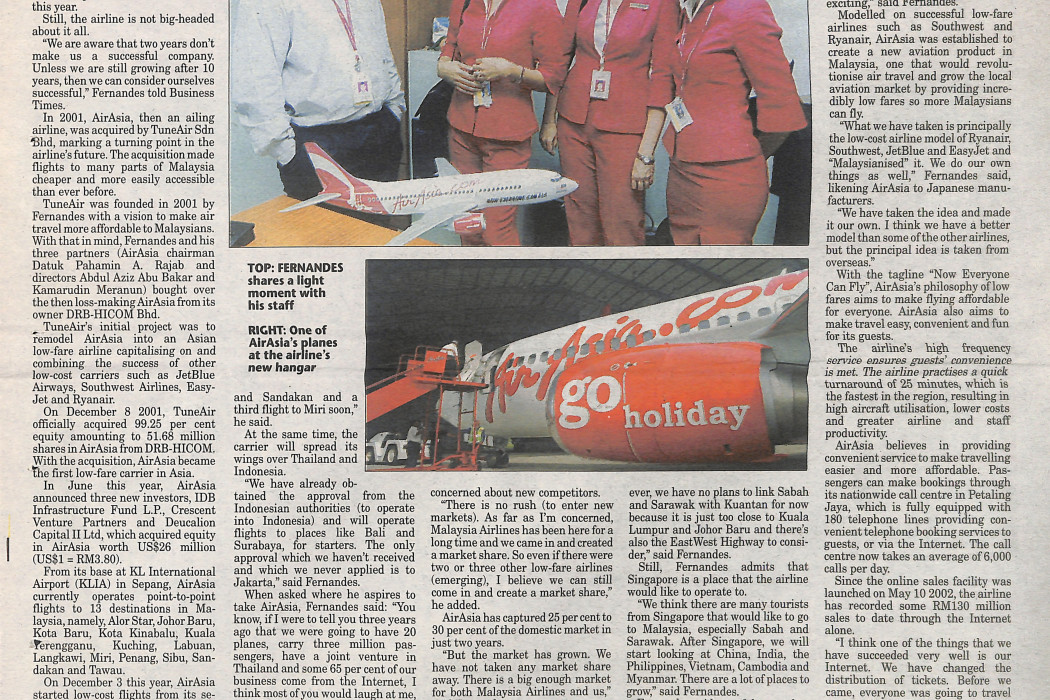 airasia in the top flight