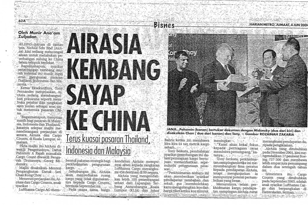 airasia kembang sayap ke China