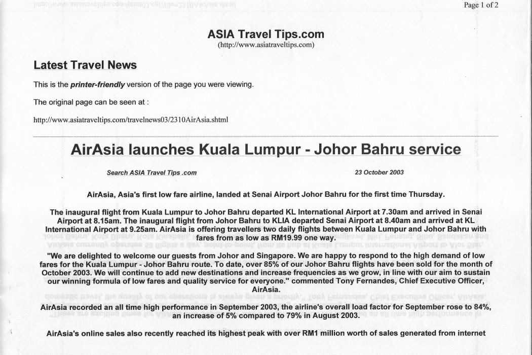 airasia launches Kuala Lumpur- Johor Bahru service (1)