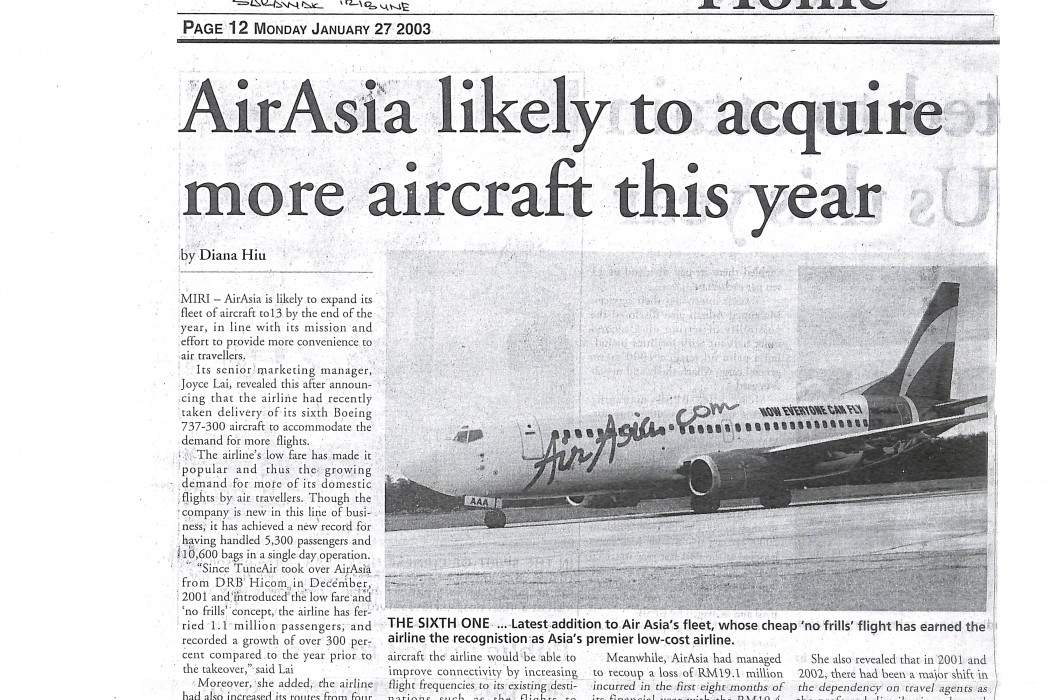 airasia likely to acquire more aircraft this year (caption wrong)