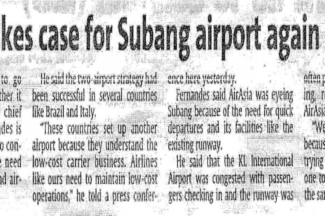 airasia makes case for Subang airport again